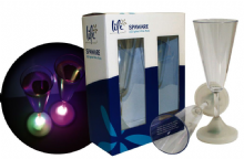 Life Spaware LED Lighted Wine Flutes